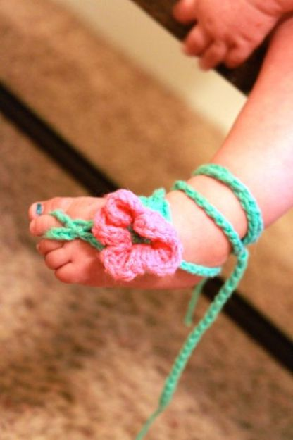 barefoot sandals by Growing Grace