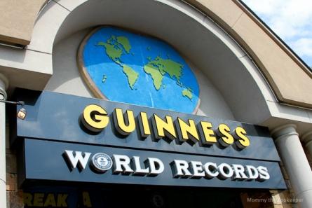sign for Guinness World Records Museum in Gatlinburg TN