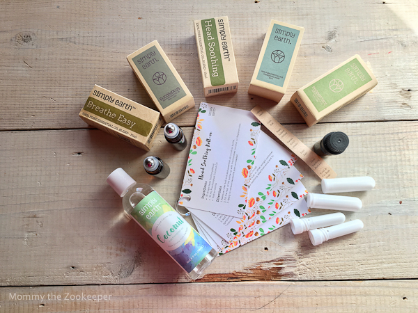 Simply Earth Essential Oils Recipe Box Contents