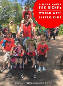 Dad and kids at Walt Disney World